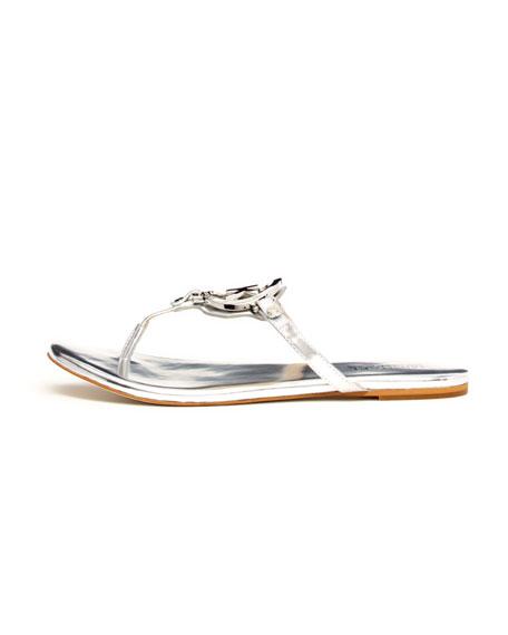 40abbe1473e MICHAEL Michael Kors Melodie Metallic Logo Thong Sandal