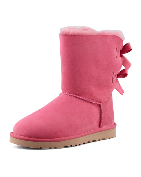 ugg bailey bow back short boot pink rh neimanmarcus com