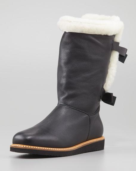 b920ca659c3 Napa Fur-Lined Bow-Back Boot