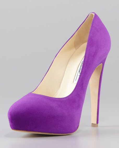 clearance comfortable cheap with mastercard Brian Atwood Velvet Platform Pumps classic YkS99oK80W