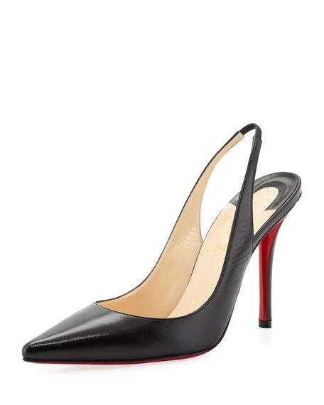 christian louboutin apostrophe red sole slingback pump black rh neimanmarcus com