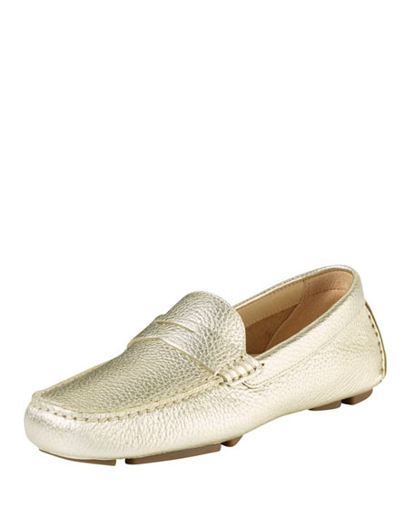 ac9e4494fbe Cole Haan Trillby Metallic Leather Driver