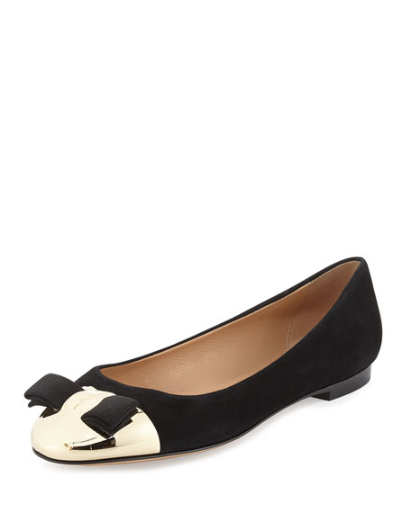 Salvatore Ferragamo Cap-Toe Bow Flats sale footaction hGb9JLutXa