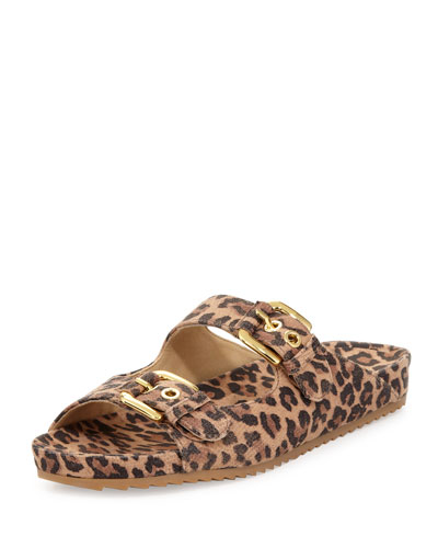 Freely Leopard-Print Buckled Sandal