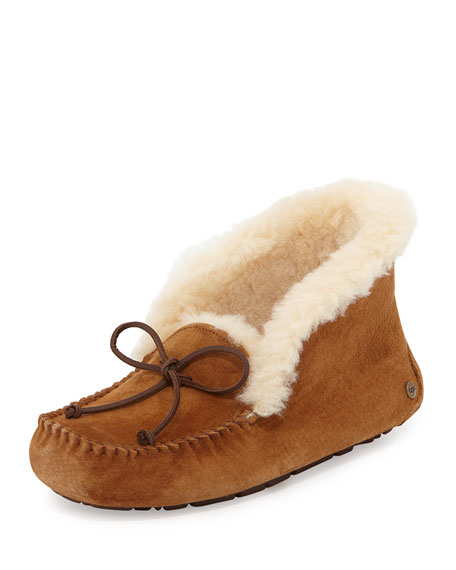 Alena Collared Tie Slipper, Chestnut