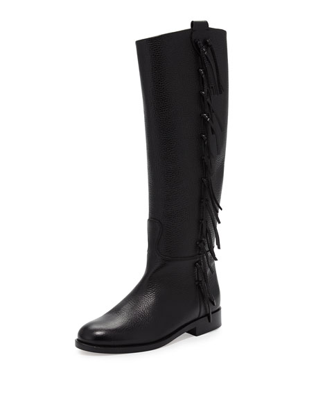 low cost cheap online Valentino Fringe Knee-High Boots how much cheap price dSX7WSjOtZ