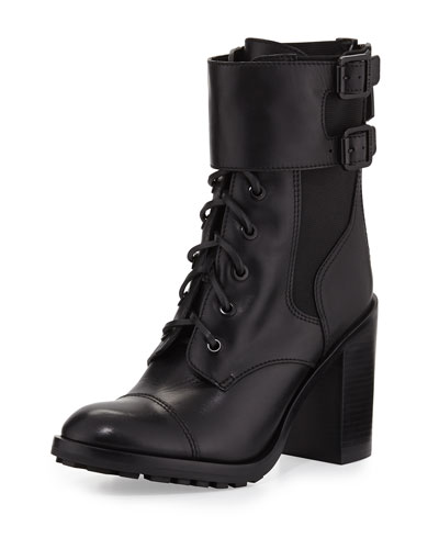 Broome Leather Combat Boot
