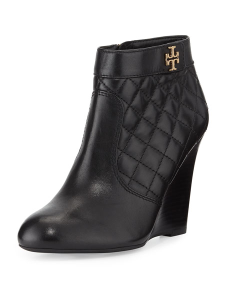 82f5dd265b1 Tory Burch Leila Quilted Wedge Bootie