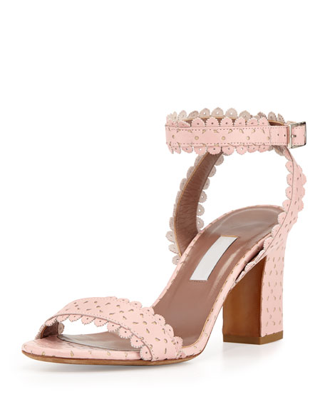 free shipping very cheap genuine for sale Tabitha Simmons Leather Wrap-Around Sandals Dusqp92F