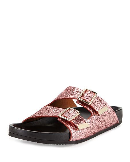 33cacf485598 Givenchy Swiss Glitter Double-Buckle Sandal
