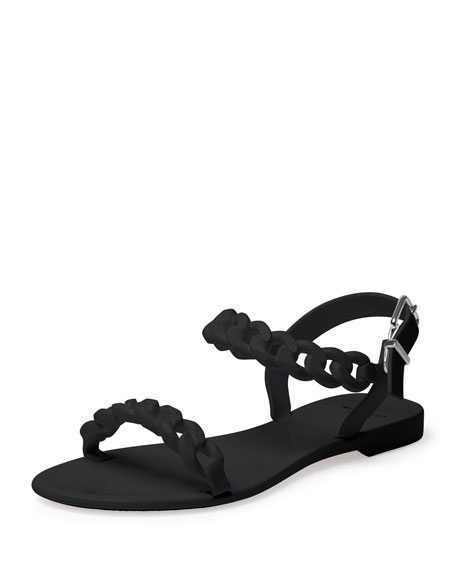 116f9815f3f7 Givenchy Jelly Chain-Link Flat Sandal