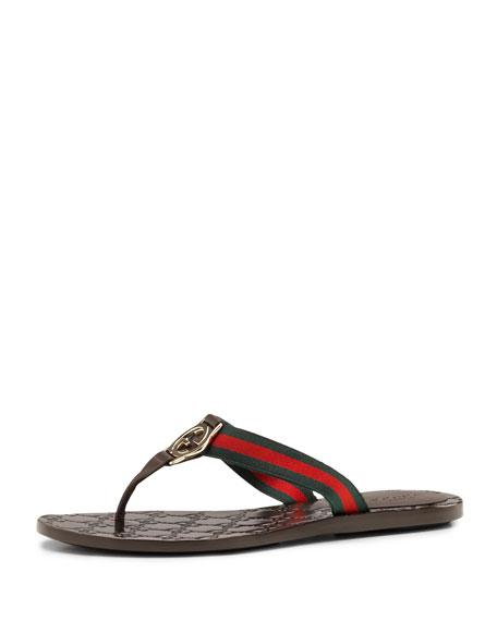 7cc0901c22f4 Gucci GG Web Thong Sandal