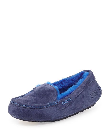 877b851fce5 Ansley Moccasin Slipper Navy