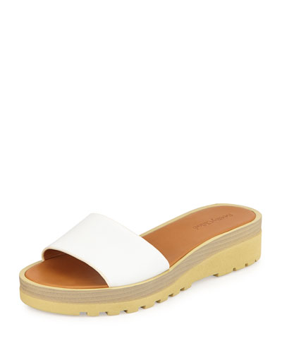 Robin Micro-Sole Slide, White
