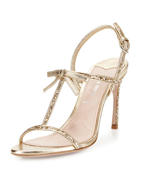 sale official site Miu Miu Slingback T-Strap Sandals outlet locations for sale ebay cheap online low price cheap price GTA2TL