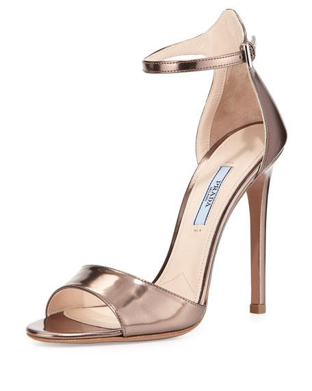 Prada Metallic heel sandals JQ4Zw