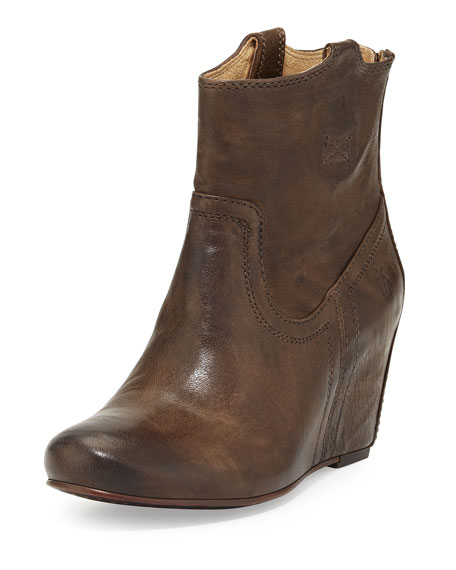 a63f269a0f1 Frye Carson Leather Wedge Bootie