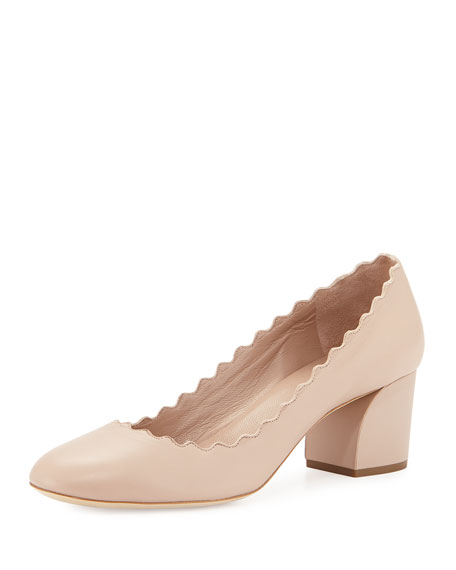 Chloé Leather & Suede Lauren Sandals in Nude. knXs6aqn