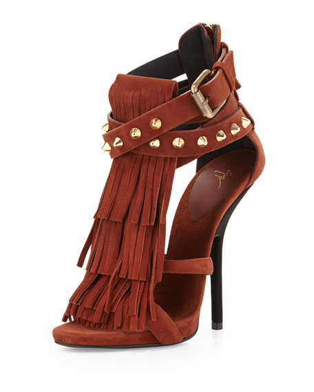Giuseppe Zanotti Fringe Suede Pump wiki online how much cheap price enjoy sale online collections outlet for nice CXQvP