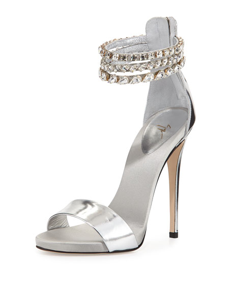 Giuseppe Zanotti Metallic Embellished Sandals discount eastbay discount price cheap sale good selling zRx4Q