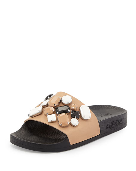 Loeffler Randall Embellished Slide Sandals