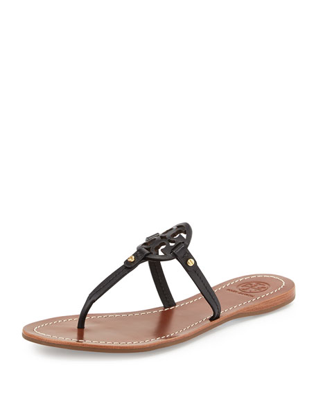 58200249c Tory Burch Mini Miller Leather Flat Thong Sandal