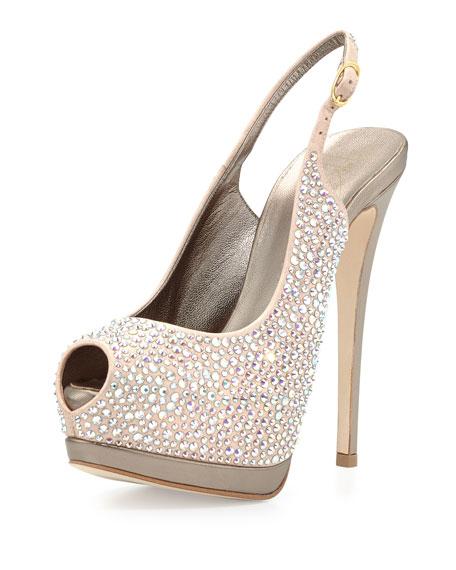 Giuseppe Zanotti Crystal-Embellished Platform Sandals cheap sale supply 2014 for sale LCy6hazM