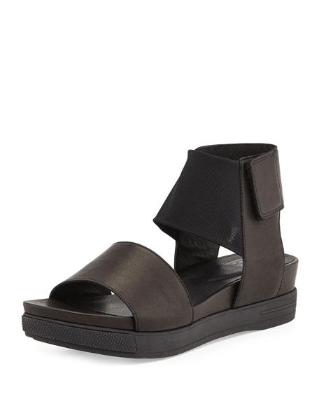 4cd5bd719 Eileen Fisher Spree Sport Leather Sandal, Black