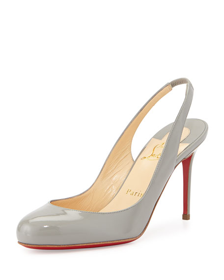 Christian Louboutin Fifi Patent Slingback Red Sole Pump