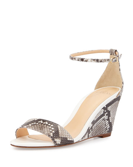 buy cheap choice Alexandre Birman Python Slingback Wedge Sandals clearance cheap price sale fashion Style cheap sale 2014 new cSE1ZV