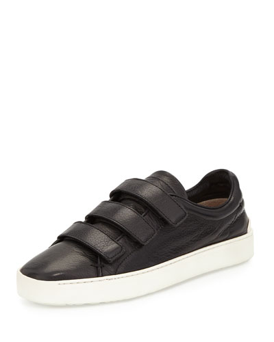 Kent Leather Low-Top Sneaker, Black