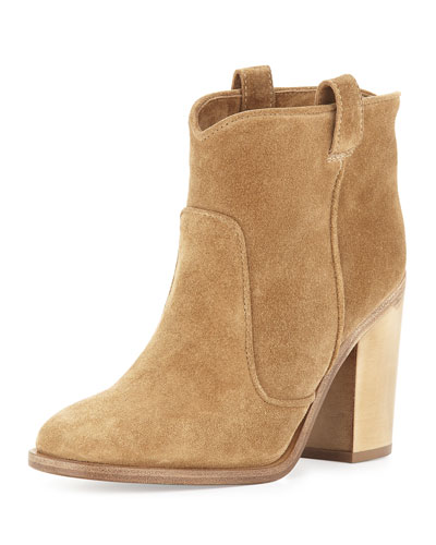 Pete Suede Ankle Boot, Beige