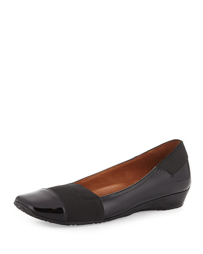Iso Kix Leather Slip-On, Black