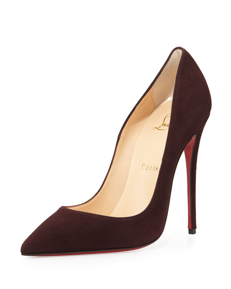 7a2f596a606 Christian Louboutin So Kate Suede 120mm Red Sole Pump