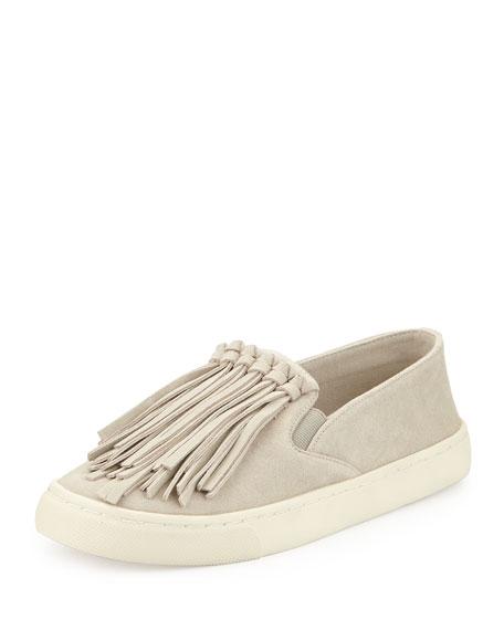 ab66f4dd4547 Tory Burch Fria Fringe Suede Slip-On Sneaker