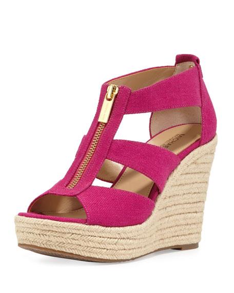 e5ec67b791c6 MICHAEL Michael Kors Damita Zip-Front Wedge Sandal