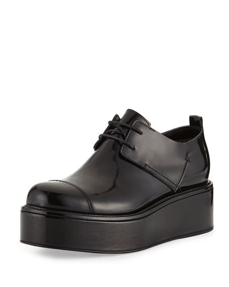 cheap amazing price Costume National Leather Platform Oxfords authentic for sale cheap sale best mg3NY