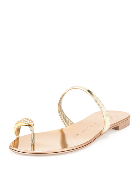 Giuseppe Zanotti Woman Crystal-embellished Leather Sandals Beige Size 36 Giuseppe Zanotti New Styles Cheap Online Sale New Arrival Outlet Fast Delivery Free Shipping Sale Online KisXtobaO
