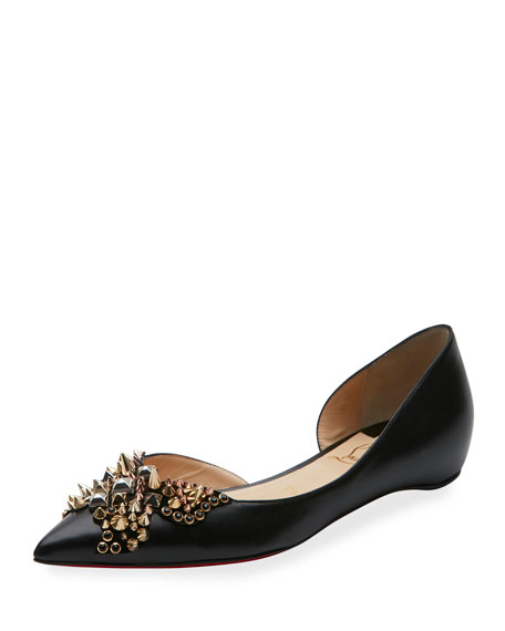 Christian Louboutin Leather d'Orsay Flats buy cheap clearance new styles footlocker pictures cheap price e6o5PKX