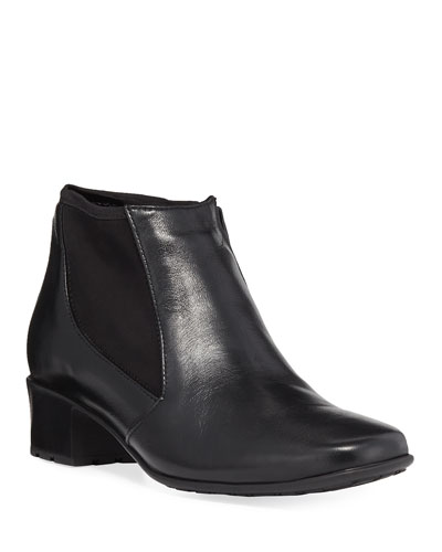 Yuma Zip-Up Gored Bootie, Black