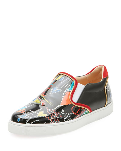 Masteralta Patent Red Sole Sneaker
