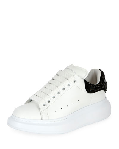 Pelle Embellished Two-Tone Low-Top Sneaker