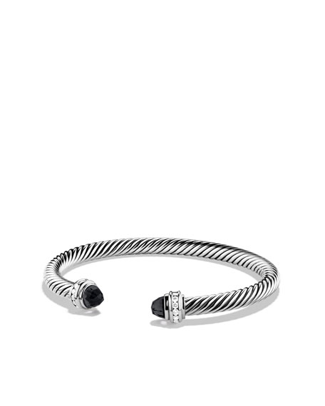 Cable Clics Bracelet With Black Onyx And Diamonds