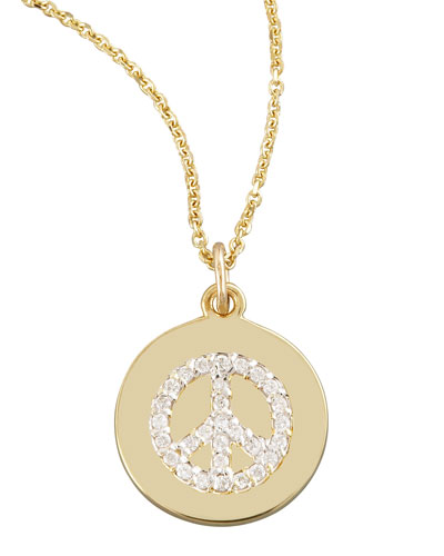 Diamond Peace Necklace