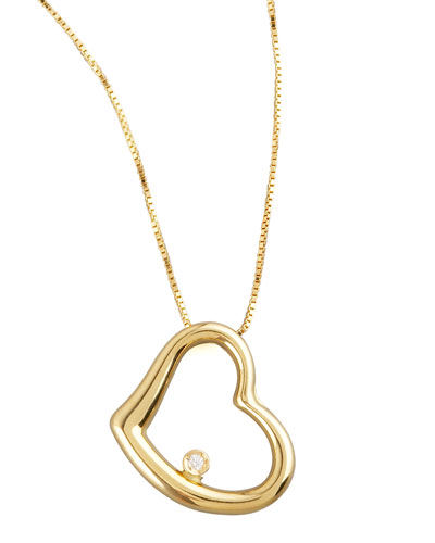 Heart Diamond-Station Necklace