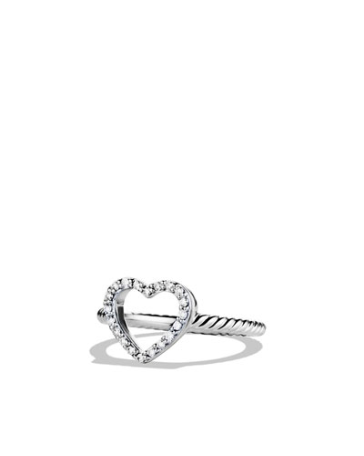 Cable Collectibles Heart Ring with Diamonds