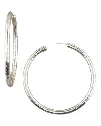 Electroform Hoop Earrings, Large