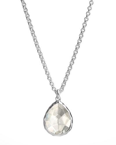 Quartz Teardrop Necklace