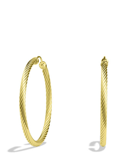 Cable Clics Large Hoop Earrings In Gold