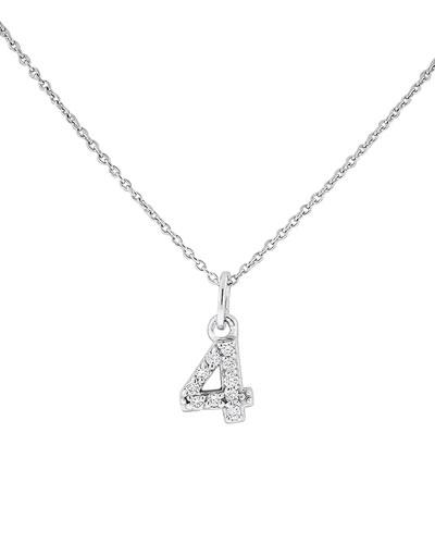 Diamond Number Necklace,